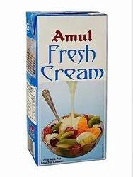Normal Room Remperature Amul Fresh Cream, For Restaurant, Quantity Per Pack: 12
