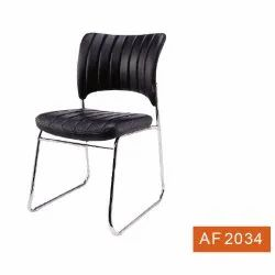 Black Leather Restaurant Chair, Seating Capacity: 1 Person