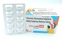 Diacerein , Glucosamine  Sulphat & Methyl Sulphonyl ,Methane  tablet