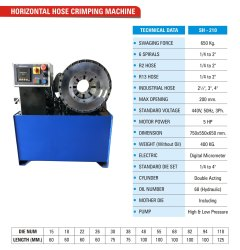 Horizontal Hydraulic Crimping Machine 210