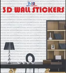 White PVC 3D Foam Sticker