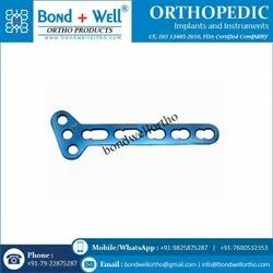 Left 3.5 mm Orthopedic Locking T Oblique Plate