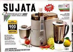 Sujata JMG Powermatic Plus 900 Watt, Capacity: 3 Jars