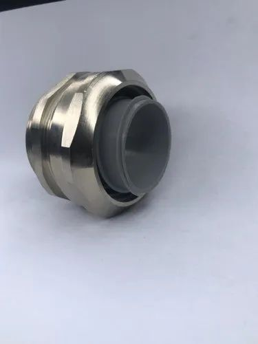 NICKEL PLATED BRASS ADAPTOR WITH NYLON FERRULE - LIQUID TIGHT CONDUIT FLEXIBLE CONDUIT  FITTINGS