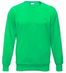 Round Neck Mens Spun Fleece Sweatshirt