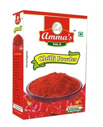Amma's gold Spicy Chilli Powder 100 grm, Packaging Type: Box