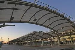 Walkway Covering Tensile Structure