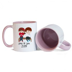 Two Tone Printed Coffee Mug