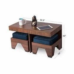 Rectangular 2 Seater Coffee Table Set, For Home, Size: 32.5 X 16 X 16 Inch (table)