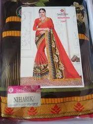 Sadashiv Printed Print Saree, Price - 265/Pc, 6 m (With Blouse Piece)
