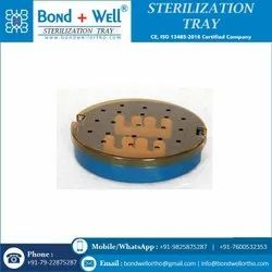 Sterilization  Round Tray With Strip