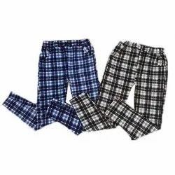 Cotton Check Men Casual Trouser