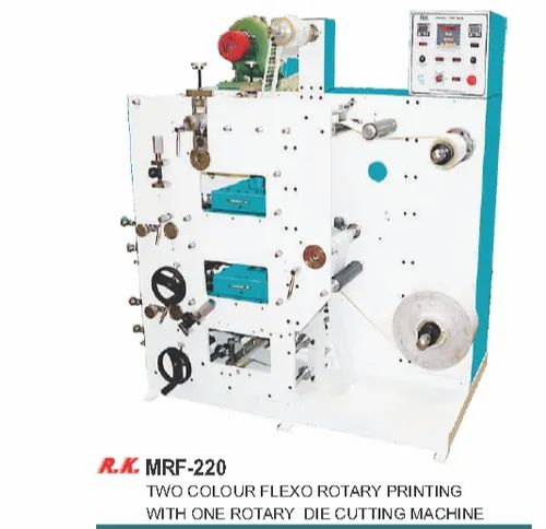 Two Colour Flexo Rotary Printing With One Rotary Die Cutting Machine