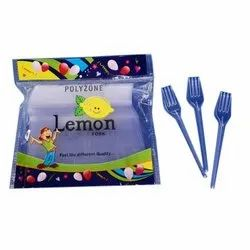 100 Pieces Polyzone Lemon Disposable Plastic Fork, For Event and Party Supplies