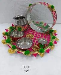 Artificial Flower & Gota Patti Thali