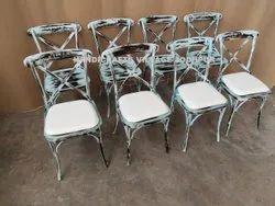 HV咖啡椅乡村十字靠背椅,座位容量:1