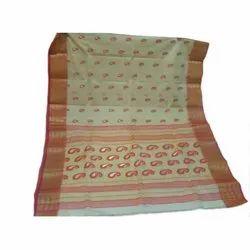 Party Wear Printed Fancy Tant Cotton Saree, 5.5 m (separate blouse piece)