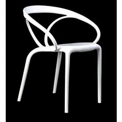Polycarbonate Curveura Ivory Chair