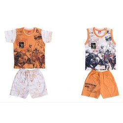 Boy 4 Piece Cotton Baby Dress Set
