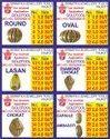 Gold Tool Chakupara Balls Dies Set Of 36 Pieces For Chakkapara Machine