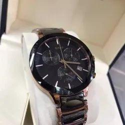 Round Rado Ceramic Black Watch For Man, For Personal Use