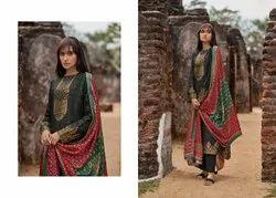 Round Neck Fancy Fabric Patola Vol 3 Varsha Fashions Palazzo Dress Material, Handwash