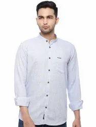 Cotton Full Sleeves 92142 Men Designer Shirt, Machine wash, Size: S-XXL