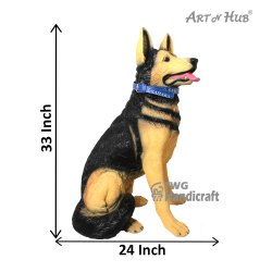 Polyresin Big German Shepherd Dog Animal Figurines