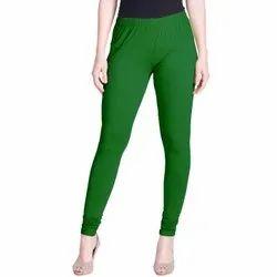 Bmode Plain Cotton Lycra Churidar Legging, Size: Free Size