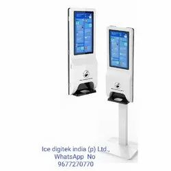 21.5 Floor Stand Advertising Digital Signage Kiosk Electric Automatic Hand Sanitizer Dispenser