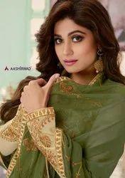 Aashirwad Creation Aarya Georgette Wedding Party Wear Suits Catalog