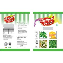 Mohyal Fresh A Grade 200g Frozen Green Peas, Packaging Size: 200 gm, Iqf