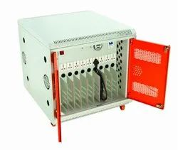 White Electric 10 Slot Charging Cart