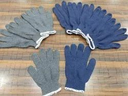 General Industrial Cotton Knitted Gloves, Size: Free