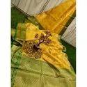 Zeba Handicrafts Party Wear Banarasi Jacquard Saree, 6.3 M (with Blouse Piece)