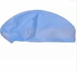 Circle Blue Surgeon Head Cap, Quantity Per Pack: 100 Pcs In A Box, Size: Standard