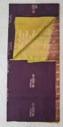 Coffee & Leaf Color Silk Saree