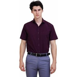 Cotton Knitted Collar Men Shirts