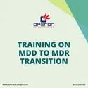 Training On Ce Mark Mdd To Mdr