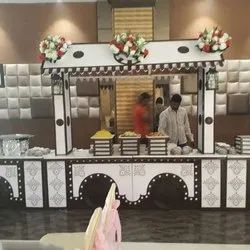 Wooden Wedding Catering Counter