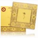 KNPS6503G / 6503 Venus Screen Padded Gold Box Flower Border Card