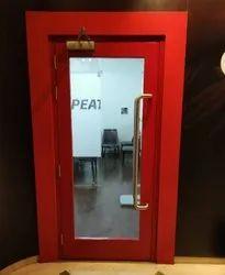 Hinge Door Powder Coated Finish Glass Fire Doors
