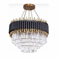 Incandescent Bulb Iron & Crystal CRFT-CH-0081 Chandelier