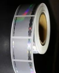 Paper Plus Pvc Barcode label with Holographic strip sticker
