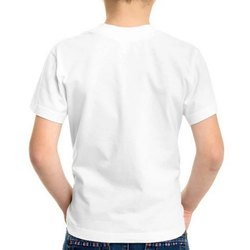 Create Your Own White Round Neck Polyester Half Sleeve