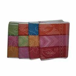 Multicolor Cotton Hand Napkin, Size: 14x21