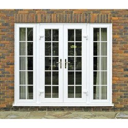 White Wooden UPVC French Doors