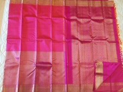 Rose & Magenta Colors Silk Saree