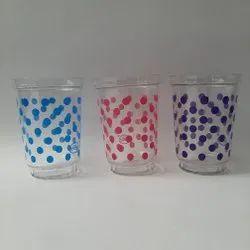 Plastic printed glass, Size: 200 Ml