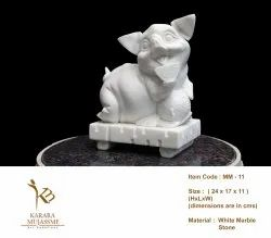Indoor - Outdoor White Marble Miniature Pig, Size/Dimension: 24 X 17 X 11